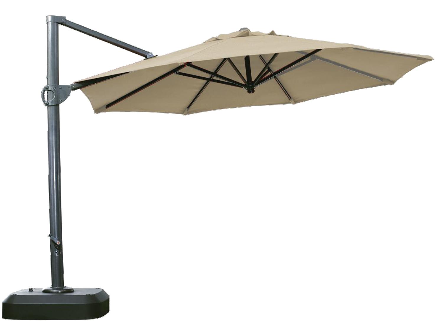 Sombrillas colgantes poste lateral for Sombrillas de jardin